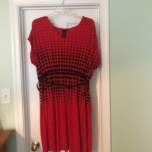 Lane Bryant red/black dress, gently used